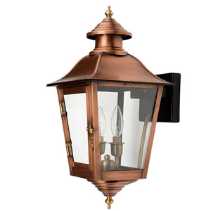 Natchez Copper Patina 12-Inch Two-Light Outdoor Wall Mount