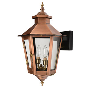Gulfport Copper Patina 17-Inch Two-Light Outdoor Wall Mount