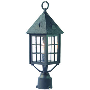 Outer Banks Matte Black One-Light Post Head
