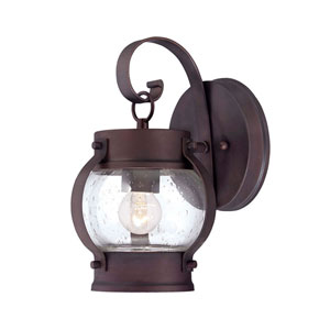 Boulder Architectural Bronze One-Light Outdoor Wall Mount with Clear Seeded Glass