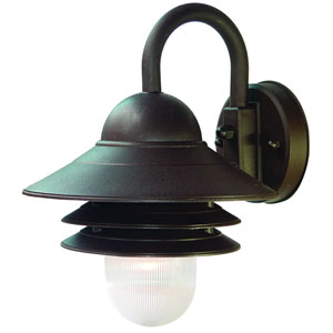 Mariner Architectural Bronze One-Light Wall Fixture 13 Inch Tall