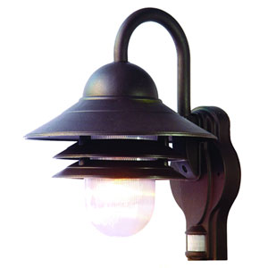 Mariner Architectural Bronze One-Light Wall Fixture 13.5 Inch Tall