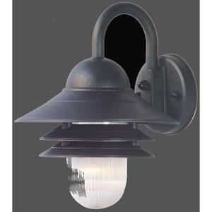 Mariner Matte Black One-Light Wall Fixture 13 Inch Tall