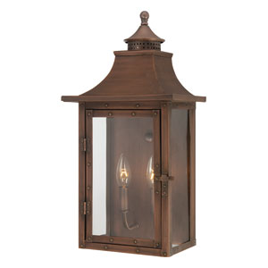 St. Charles Medium Wall Lantern with Copper Patina Finish