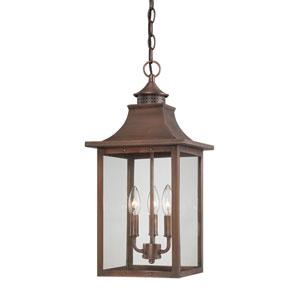 St. Charles Medium Hanging Lantern with Copper Patina Finish