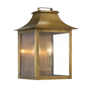 Manchester Aged Brass Two-Light Outdoor Wall Mount