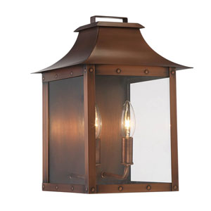 Manchester Copper Patina Two-Light Outdoor Wall Mount