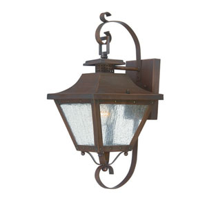 Lafayette Copper Patina One-Light Outdoor Wall Mount