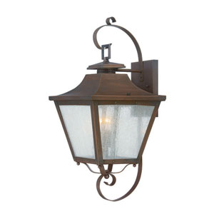 Lafayette Copper Patina Two-Light Outdoor Wall Mount