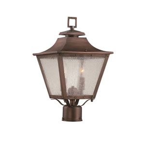 Lafayette Copper Patina Two-Light Outdoor Post Mount