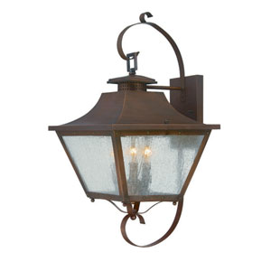 Lafayette Copper Patina 22.5-Inch Three-Light Outdoor Wall Mount