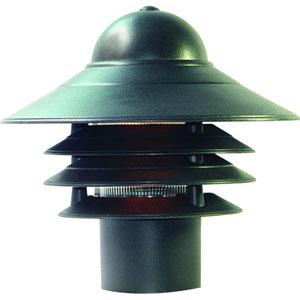Mariner Matte Black One-Light Post Head