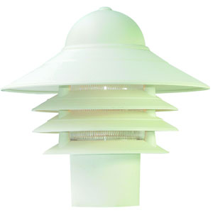 Mariner Textured White One-Light Post Head