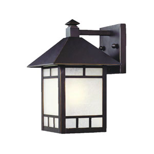 Artisan Architectural Bronze One-Light 10.5-Inch Outdoor Wall Mount