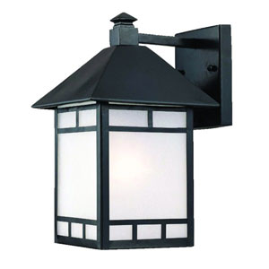 Artisan Matte Black One-Light 15.5-Inch Outdoor Wall Mount