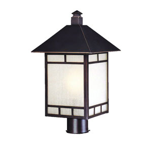 Artisan Architectural Bronze One-Light 18.5-Inch Outdoor Post Mount