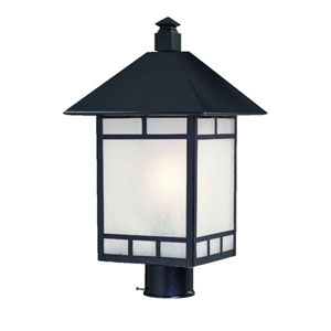 Artisan Matte Black One-Light 18.5-Inch Outdoor Post Mount
