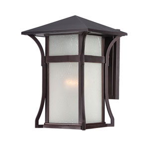 Tahiti Architectural Bronze Seven-Inch One-Light Outdoor Wall Mount