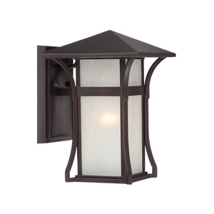 Tahiti Architectural Bronze Eight-Inch One-Light Outdoor Wall Mount