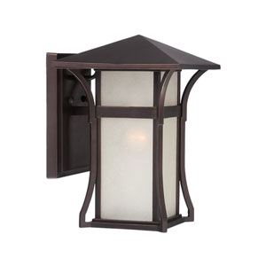 Tahiti Architectural Bronze Nine-Inch One-Light Outdoor Wall Mount