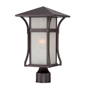 Tahiti Architectural Bronze One-Light Outdoor Post Mount