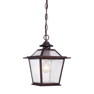 Salem Architectural Bronze One-Light Outdoor Hanging Lantern with Clear Seeded Glass