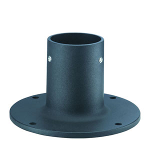 Matte Black Die cast aluminum flange base for 2.95 Inch post up to 12 - finish.