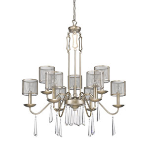 Rita Washed Gold Nine-Light Chandelier