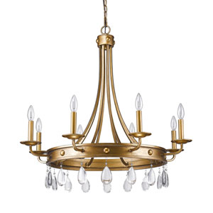 Krista Antique Gold Eight-Light Chandelier