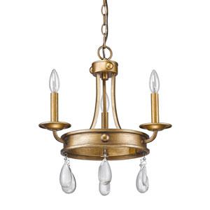 Krista Antique Gold Three-Light Chandelier