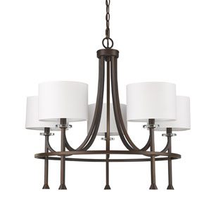 Kara Oil Rubbed Bronze Five-Light Chandelier