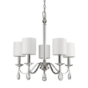 Lily Polished Nickel Five-Light Chandelier