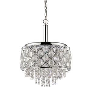 Isabella Polished Nickel Six-Light Pendant
