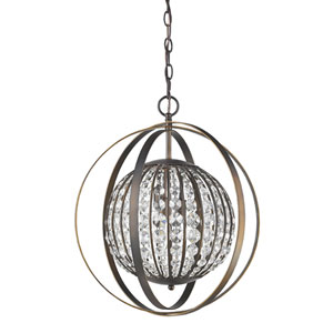 Olivia Oil Rubbed Bronze 18-Inch One-Light Pendant