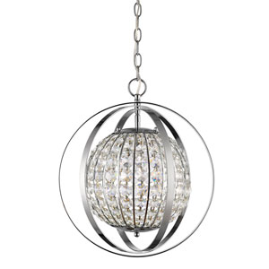 Olivia Polished Nickel 18-Inch One-Light Pendant
