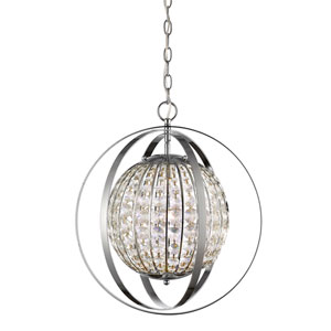 Olivia Polished Nickel 16-Inch One-Light Pendant