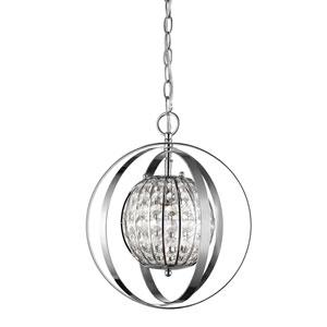 Olivia Polished Nickel 13-Inch One-Light Pendant