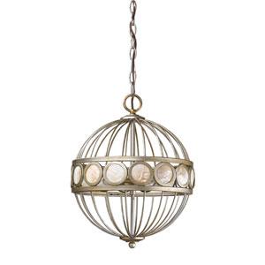 Aria Antique Silver Three-Light Pendant