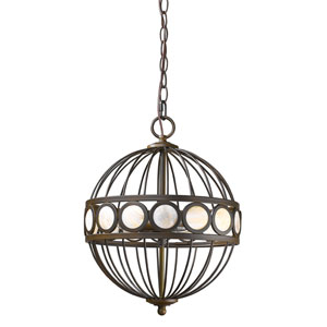 Aria Oil Rubbed Bronze Three-Light Pendant