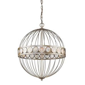 Aria Antique Silver Six-Light Pendant