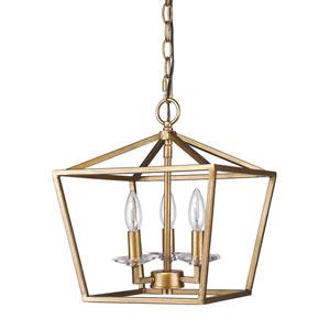 Kennedy Antique Gold Three-Light Chandelier