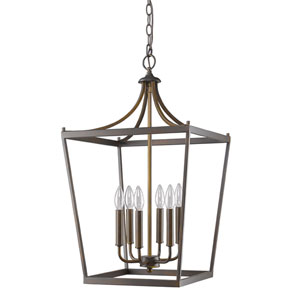 Kennedy Oil Rubbed Bronze Six-Light Chandelier