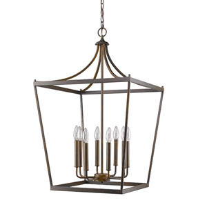 Kennedy Oil Rubbed Bronze Eight-Light Chandelier