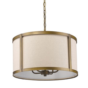 Jessica Raw Brass Four-Light Pendant