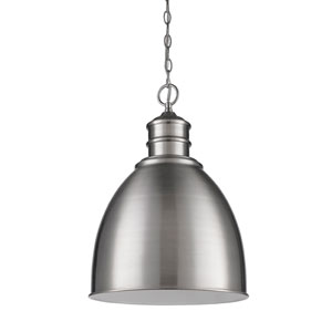 Colby Satin Nickel One-Light Pendant