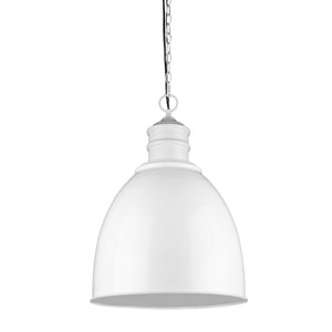 Colby White One-Light Pendant