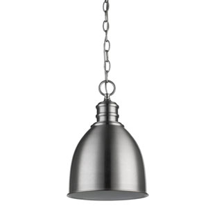 Colby Satin Nickel 9-Inch One-Light Mini Pendant