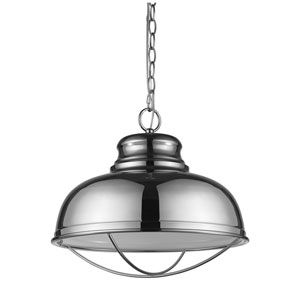 Ansen Polished Nickel One-Light Pendant