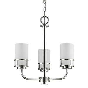Alexis Polished Nickel Three-Light Chandelier