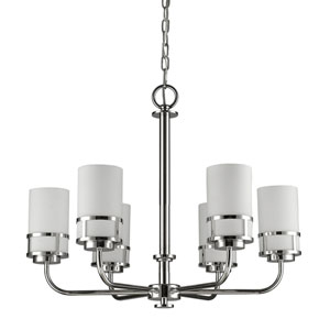 Alexis Polished Nickel Six-Light Chandelier
